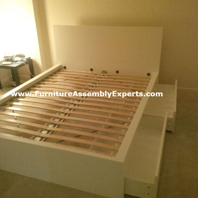 Ikea Malm Bed High With Storage Drawers Assembled In Johns