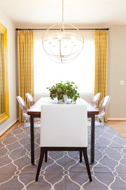 Delicieux Yellow Dining Room   Like Grey Rug.