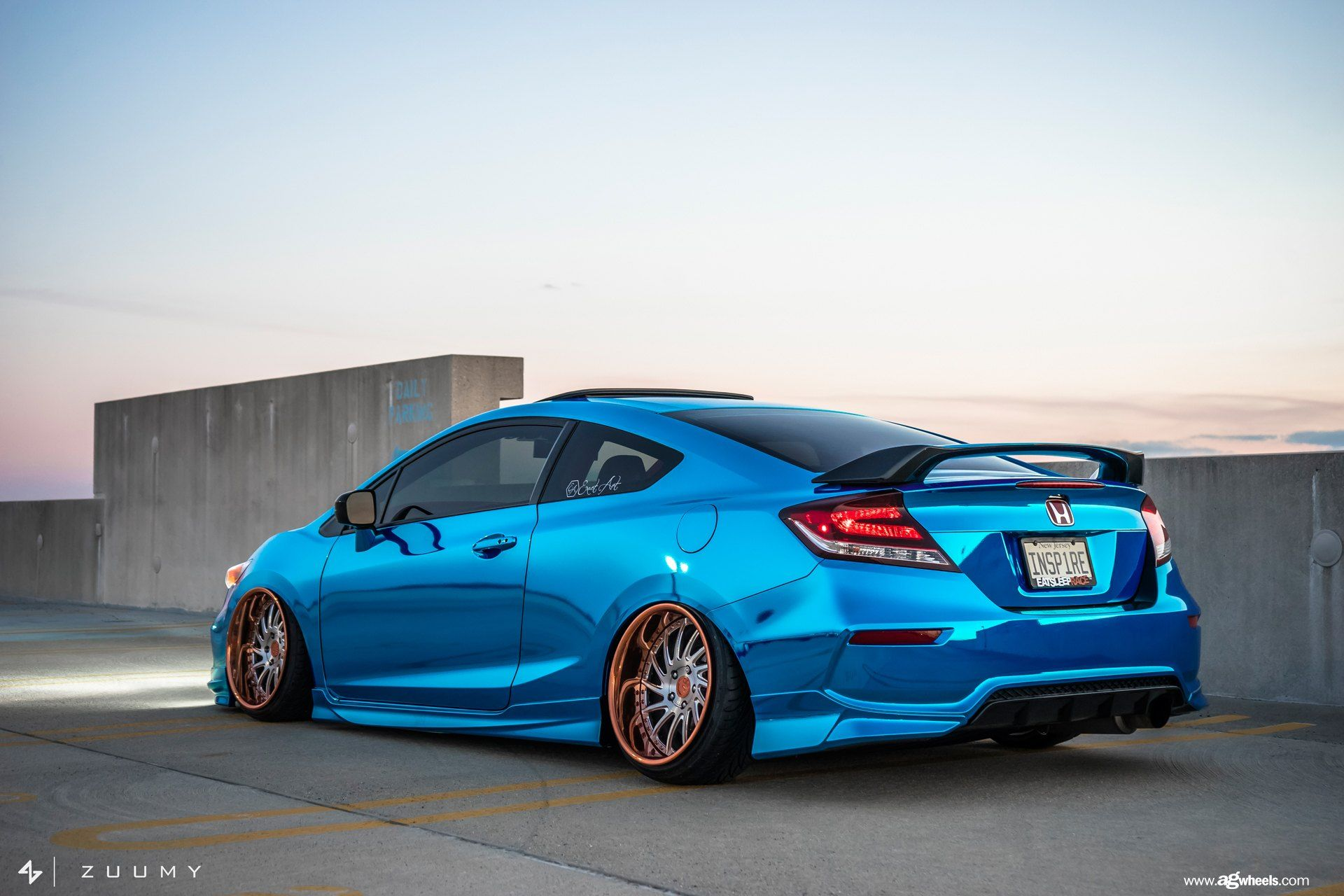 Chrome Blue Stanced Honda Civic Si Coupe By Avant Garde Honda Civic Si Coupe Honda Civic Si Honda Civic Coupe