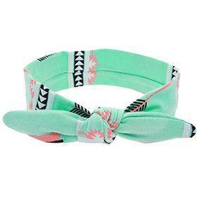 1 PC New Cool Cotton Cute Baby Headband Elastic Node Print Tan Disassemble