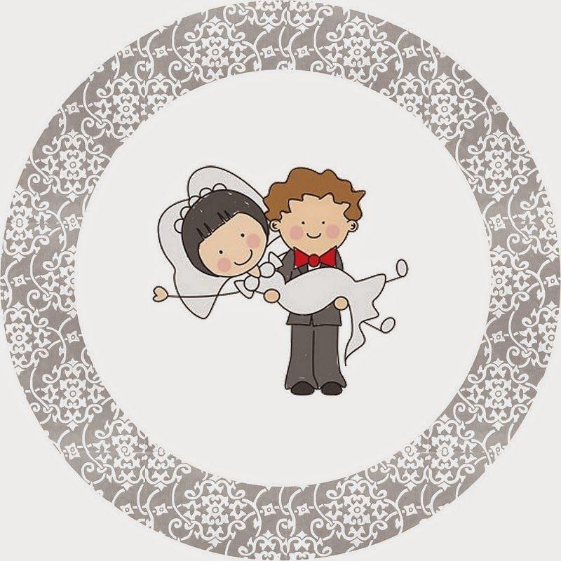 Круглые открытки на свадьбу