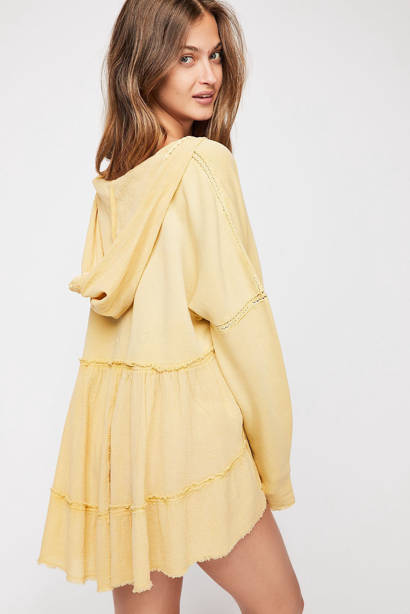 f70217ed45d77 Free People Sunshine'S Out Pullover Hoodie - Warm Tahini S ...