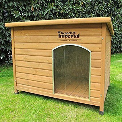 Pets Imperial Large Insulated Wooden Norfolk Dog Kennel With
