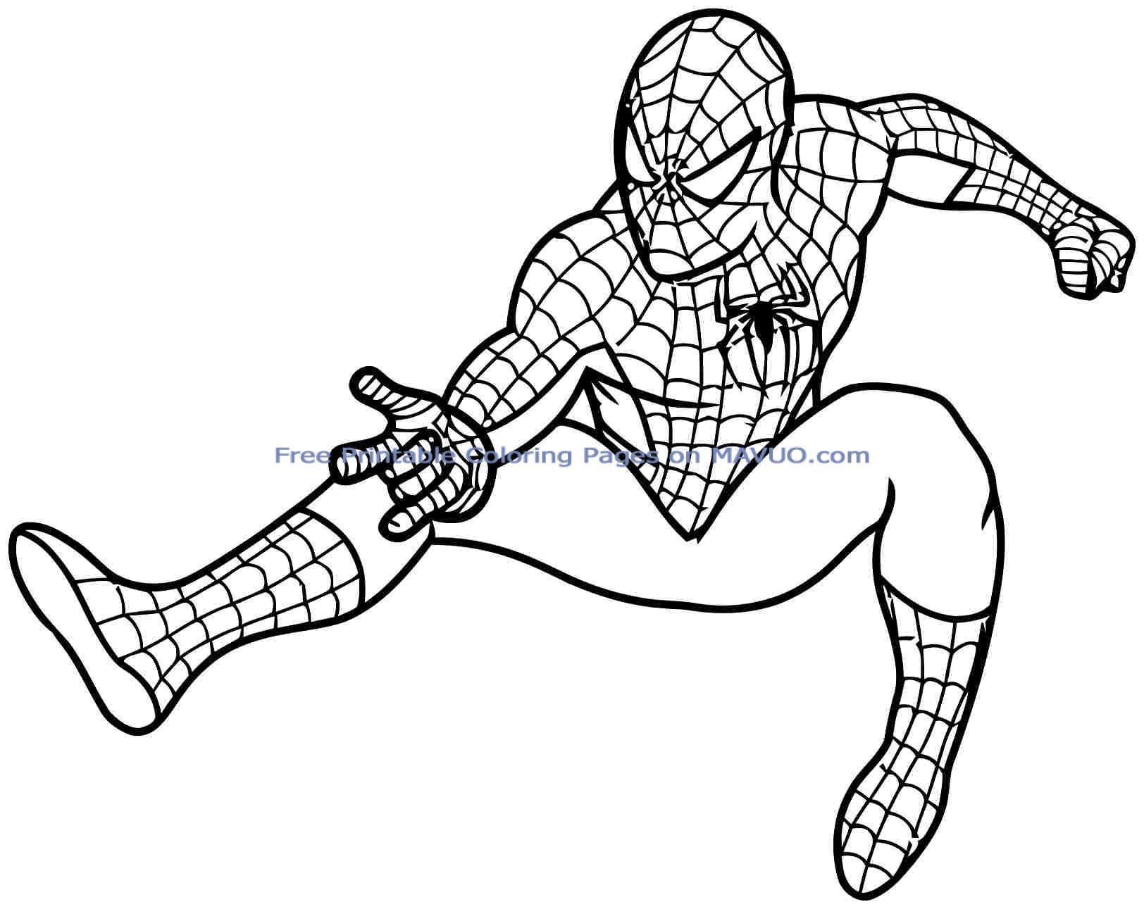 Superhero Coloring Books Free Coloring Pages Spiderman Warna Kartun