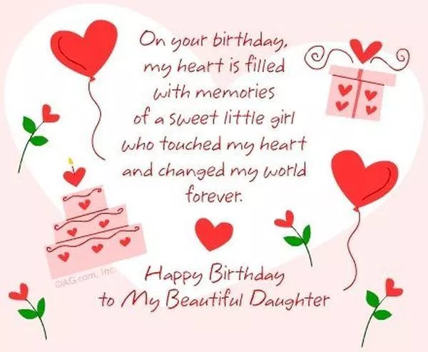 Happy Birthday Wishes For Daughter From Mom Birthday Greetings For Daughter Happy Birthday Daughter Birthday Wishes For Daughter