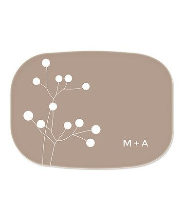 Look what I found on #zulily! Clay Twigs Personalized Platter #zulilyfinds