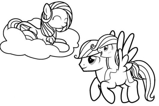 My Little Pony Christmas Coloring Pages Friendship Is Magic