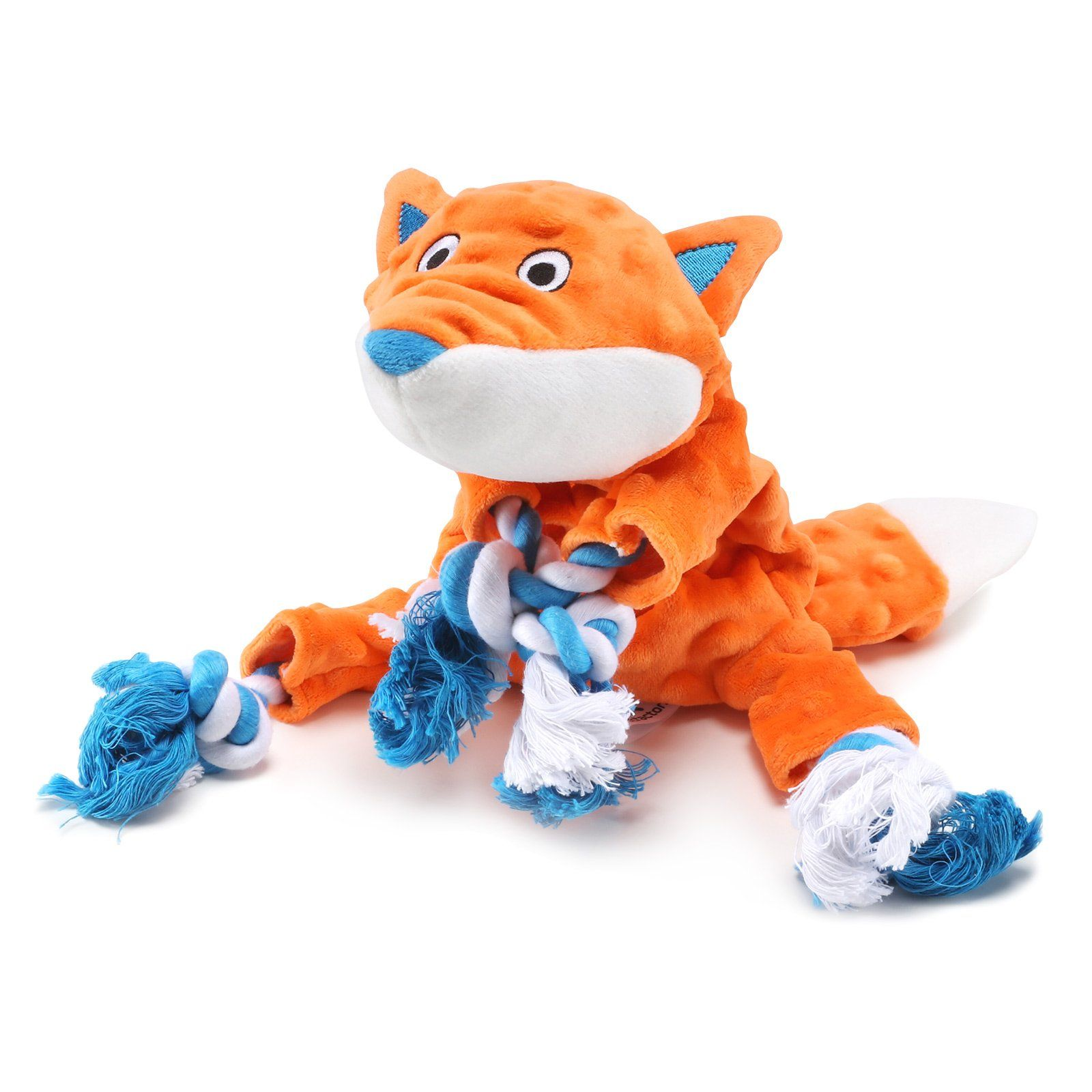 Petfactors Plush Dog Toy Fox Pattern Stuffingless Durable Tough