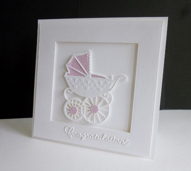 Cas325 Baby Pram By Sistersandie Cards And Paper Crafts At Splitcoaststampers Baby Cards Handmade Baby Greeting Cards Baby Cards