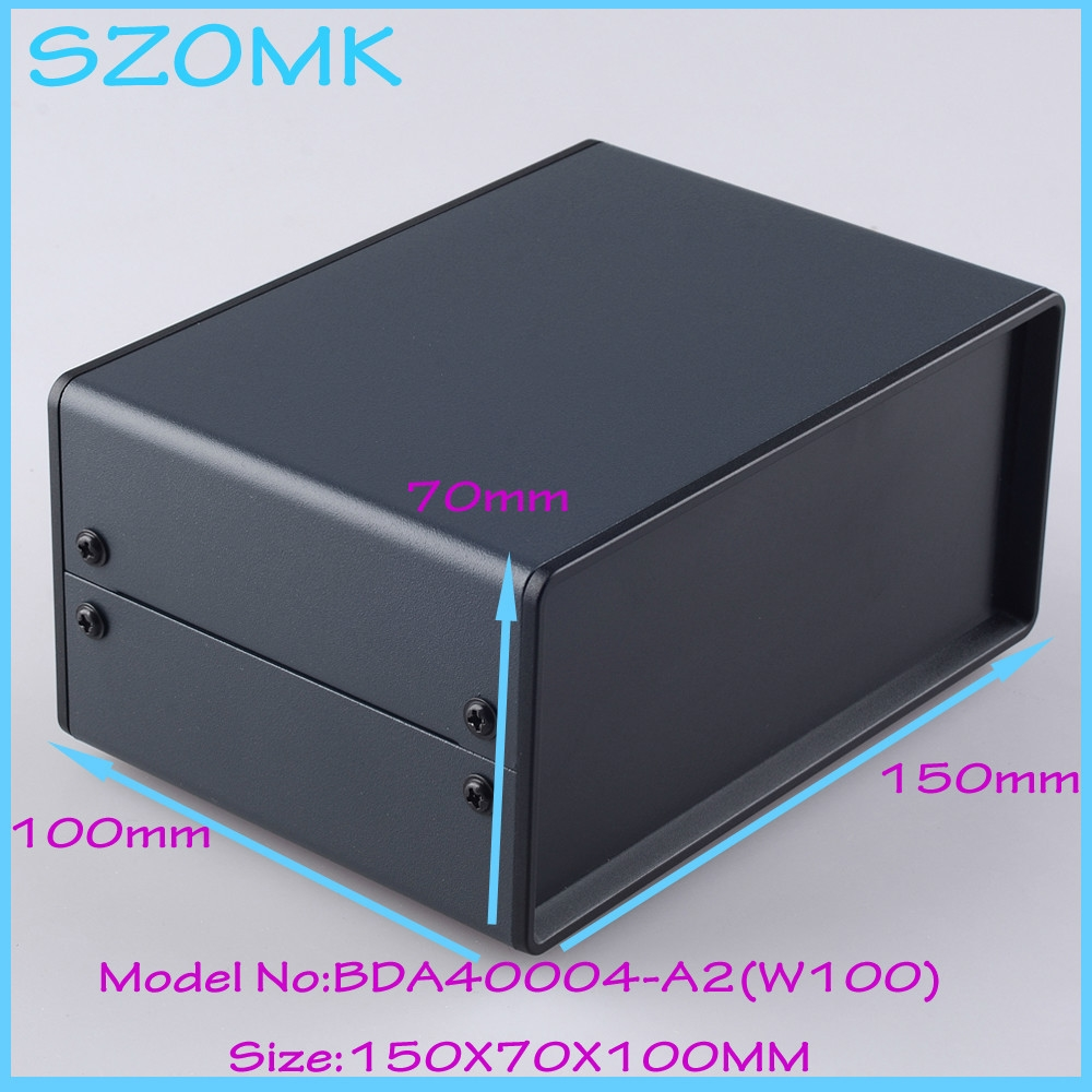 11.25$  Buy now - http://alir53.shopchina.info/go.php?t=2011402590 - (1pcs )150x70x100mm metal enclosure switch box diy iron electronics box instrument case housing case for pcb  #aliexpressideas