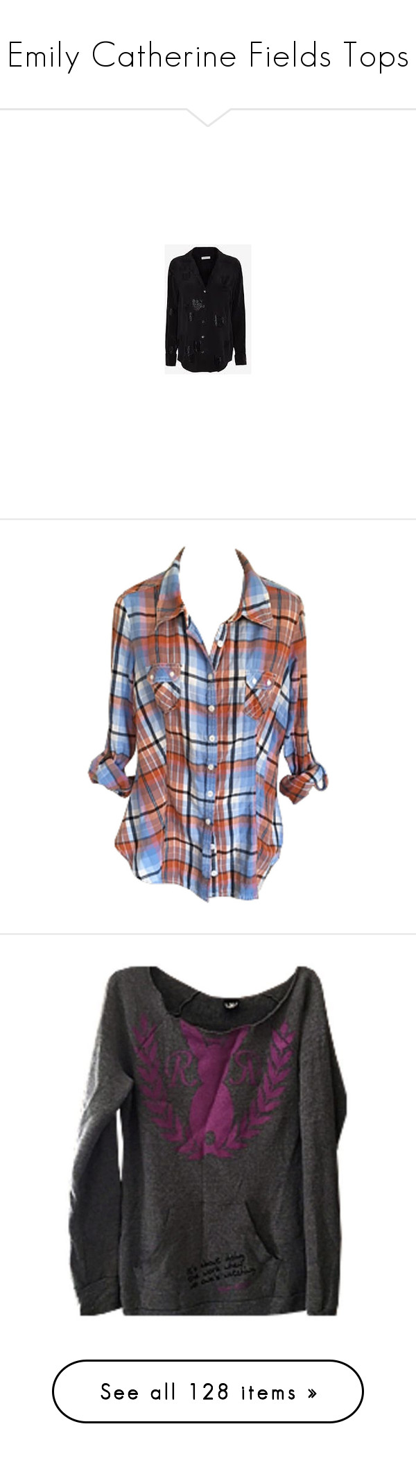 Orange flannel jacket  Emily Catherine Fields Tops