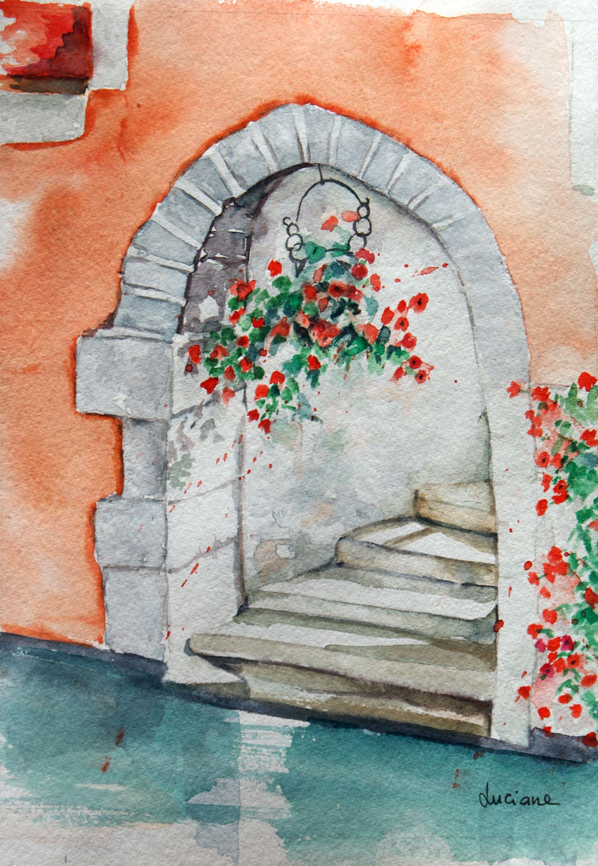 Annecy La Petite Venise Du Nord Luciane Lapierre Watercolor From