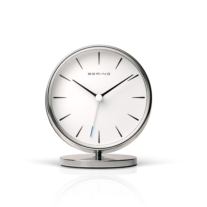 Polished Silver 90096 04r Clock Nordic Design Alarm Clock
