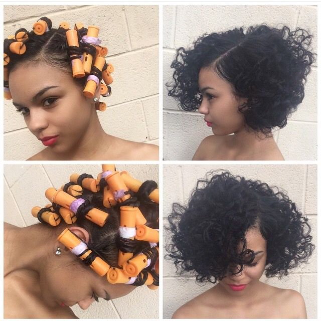 It's A Roller Set On Relaxed Hair, But I Don't Care It's