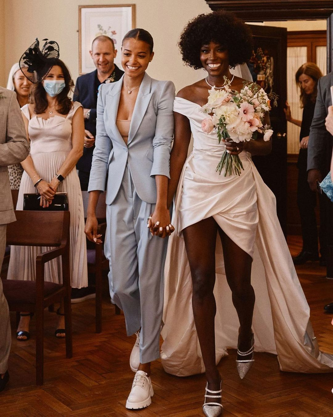 """All the Pretty Birds on Instagram: """"Summer weddings are always stunning💙👰🏾♀️ We are in love with the individual style of this mother-daughter duo😍 @lorrainepascale being…"""""""