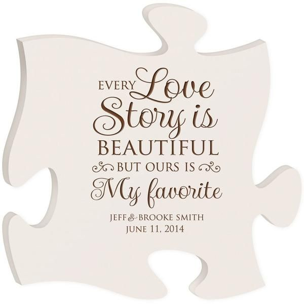 Personalized Puzzle Piece Plaque Every Love Story Is Beautiful