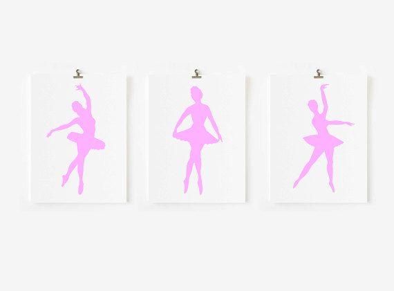 Ballerina Wall Art ballerina wall art // kids wall art // choosemodernpinkpaper