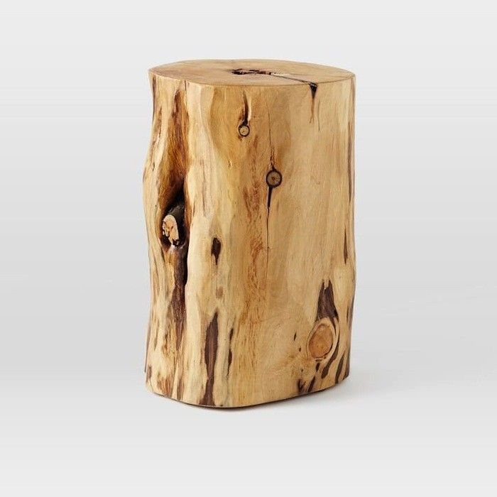 Amazing Bring The Outdoors In With The Natural Tree Stump Side Table. Made From  Naturally Fallen Cypress Trees, Each Solid Wood Table Is One Of A Kind.