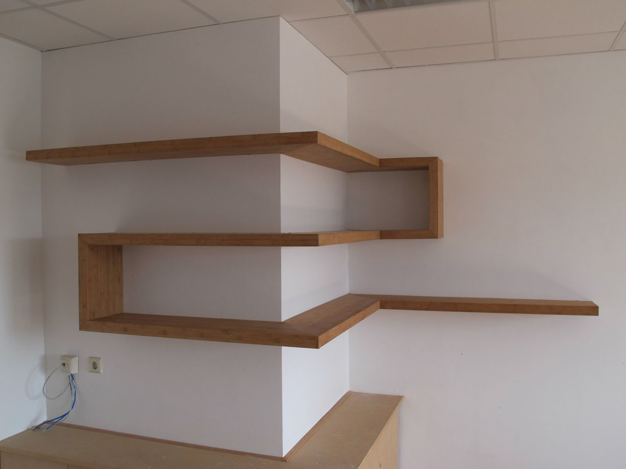 Great Use Of Corners · Wooden Corner ShelfCorner Wall ...
