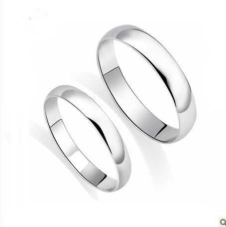 Genuine Solid 18k White Gold His And Hers Wedding Band 24mm