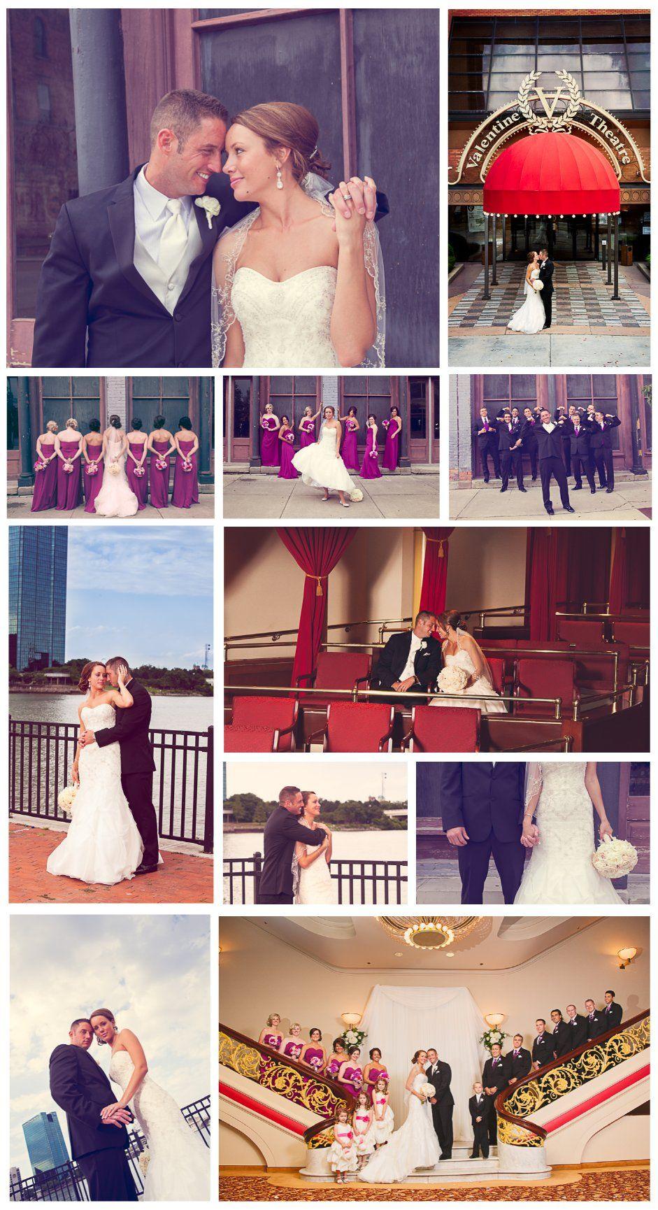 valentine theatre toledo ohio wedding party ideas memories captured by brenda