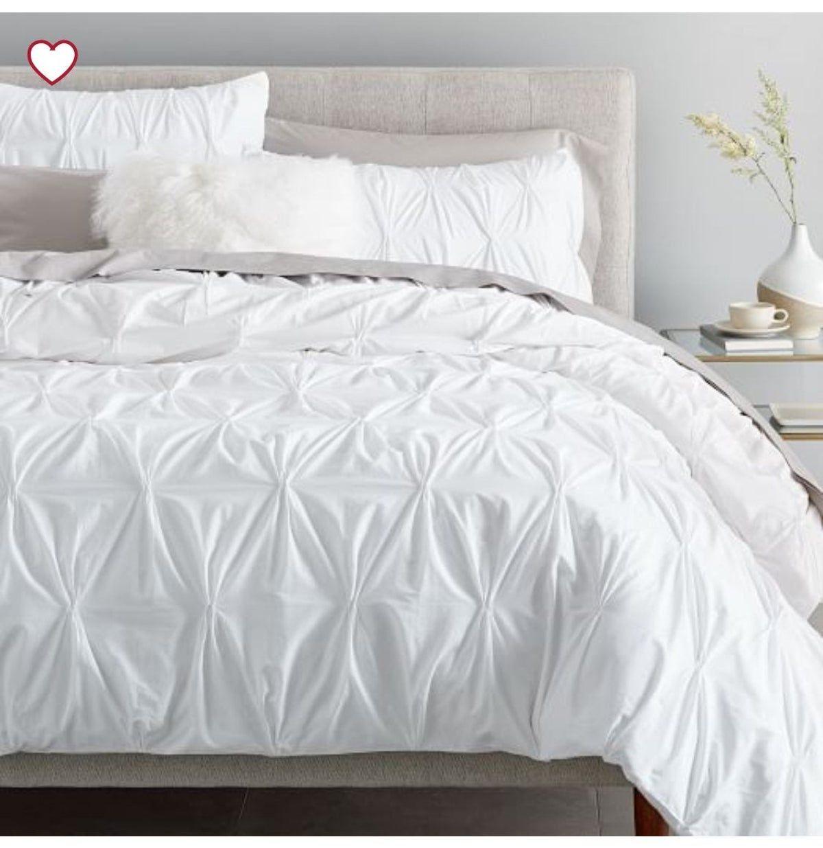 Pin By Tara Gray On Decor Pintuck Duvet Cover Modern Bed Duvet