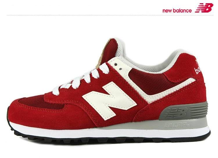 New Balance ML574YO Retro Red Suede White Mens Shoes