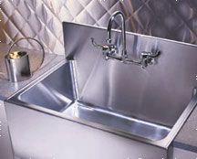 Oversized Single Bowl Apron Front Kitchen Sink With Backsplash ...