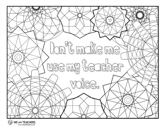 8 Free Adult Coloring Pages For Stressed Out Teachers Free Adult