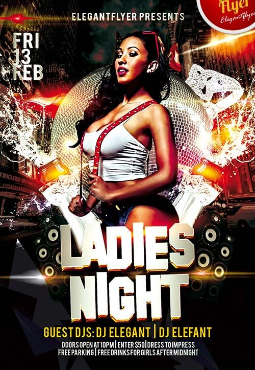 Ladies Night Free Club And Party Flyer Psd Template Http