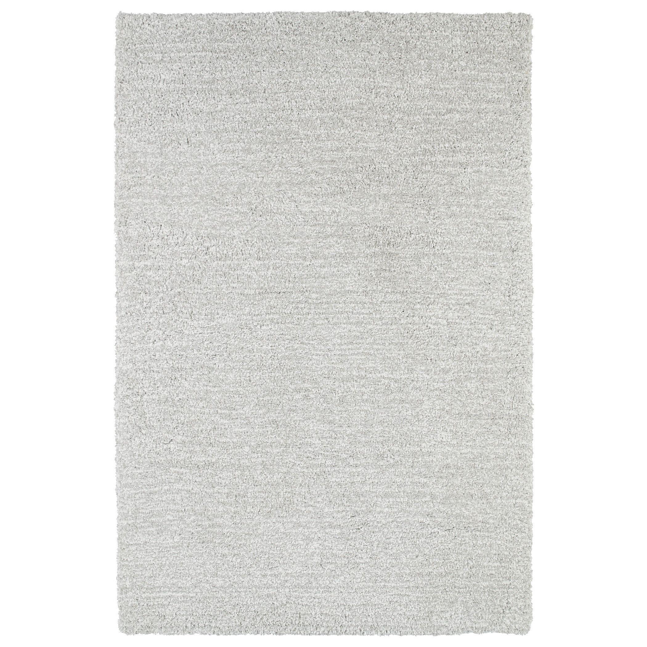 kaleen rugs fluffy silver shag rug 5u00270 x 7u00276