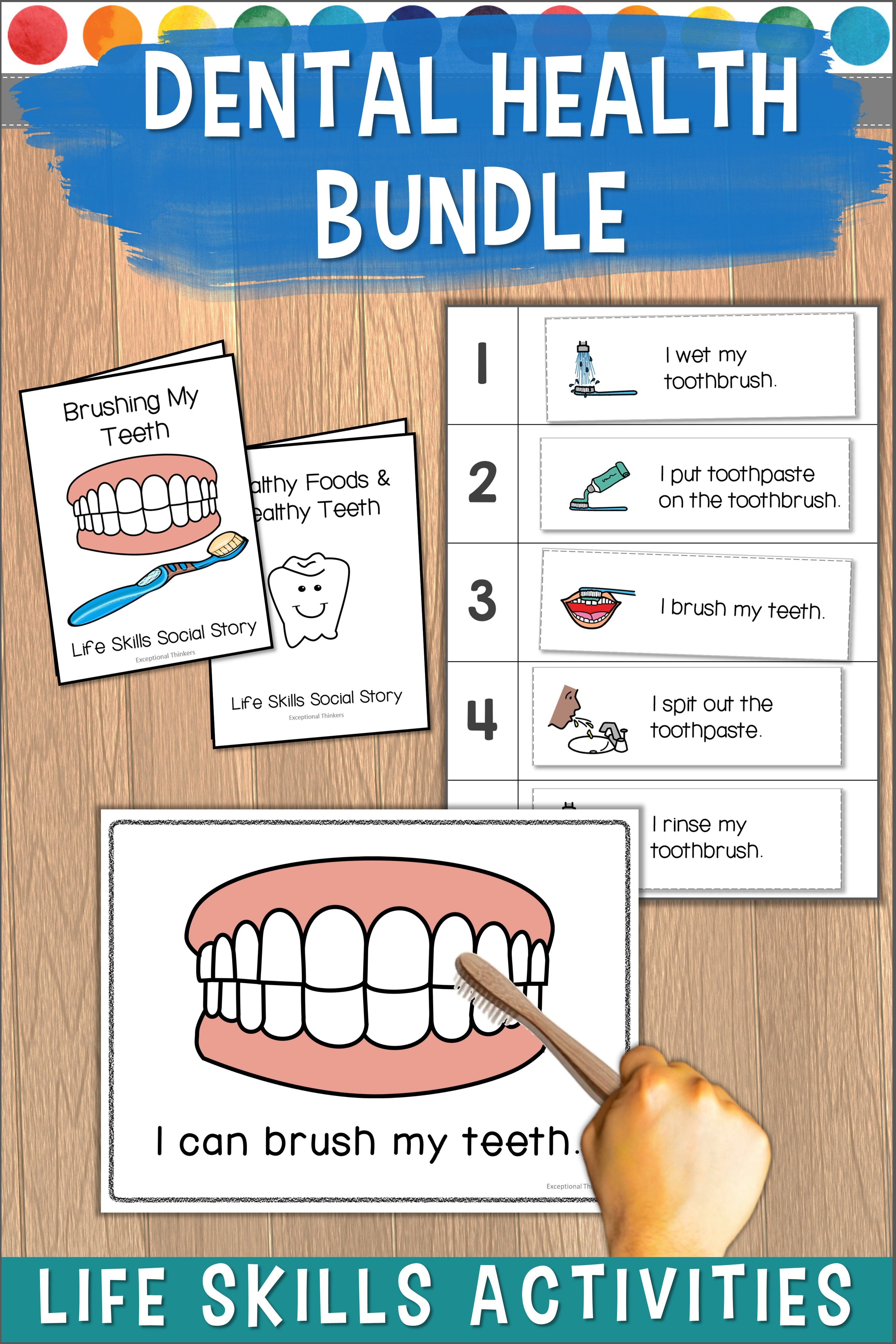 Practice The Concepts Of Brushing Teeth With These Life Skills File Folder Games Worksheets Posters And Soci Life Skills Preschool Life Skills Dental Health [ 4500 x 3000 Pixel ]
