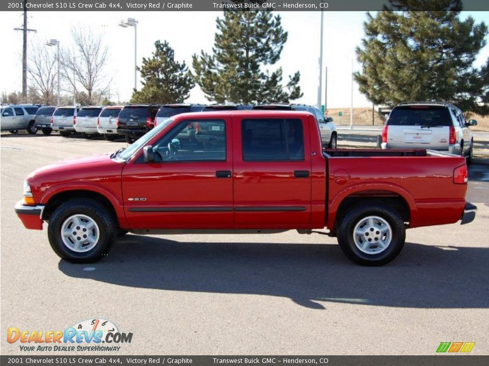 2001 Chevrolet S10 Ls Crew Cab 4x4 Victory Red Graphite Photo 6 Crew Cab Chevrolet Cab