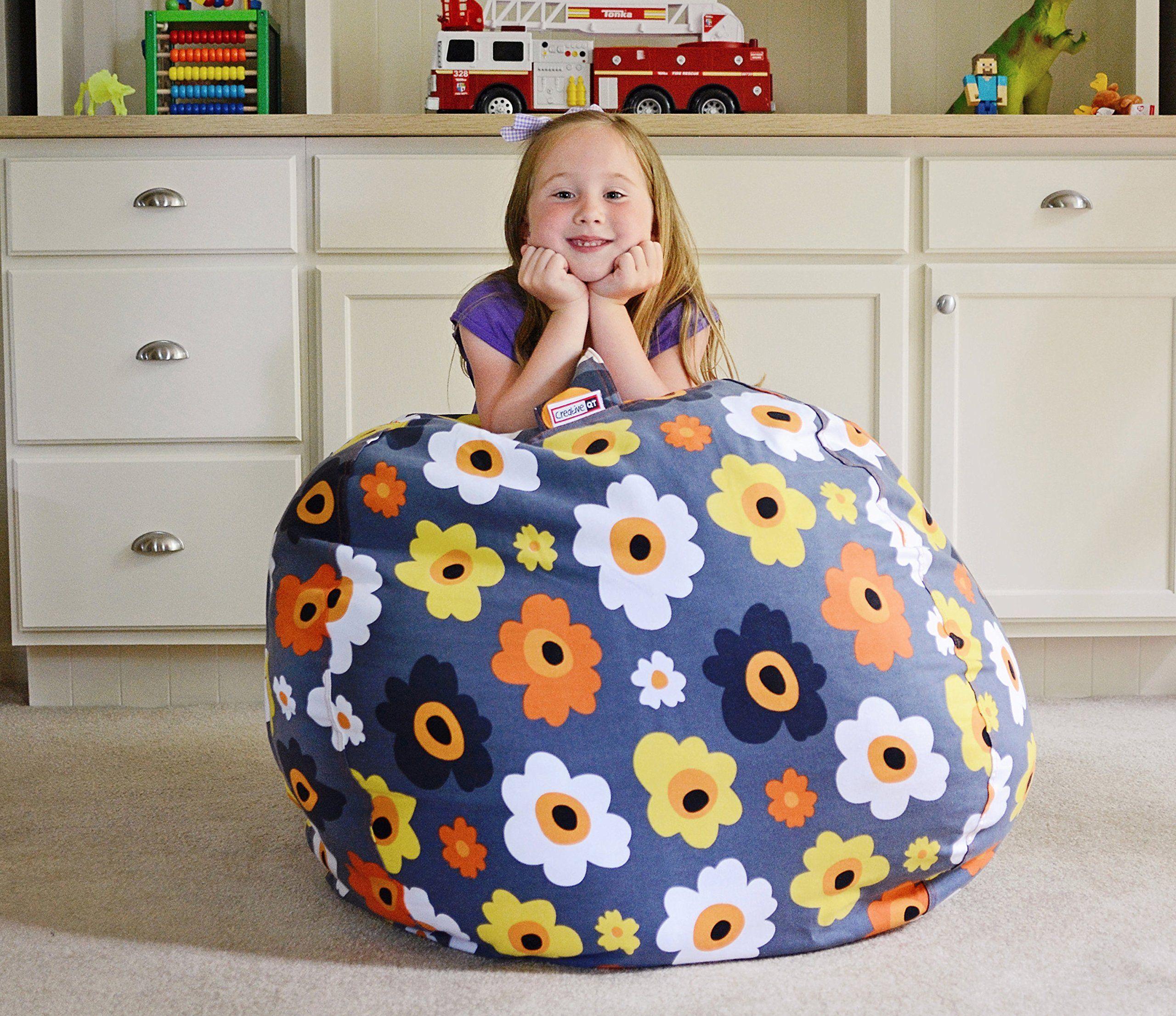 Extra large stuff n sit stuffed animal storage bean bag