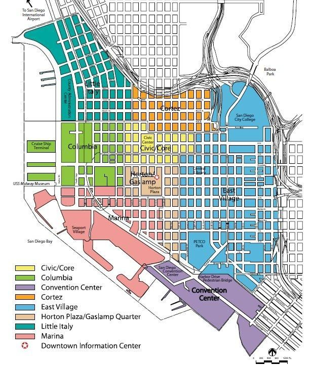 San Diego Map Downtown.Downtown San Diego Neighborhoods San Diego San Diego San Diego