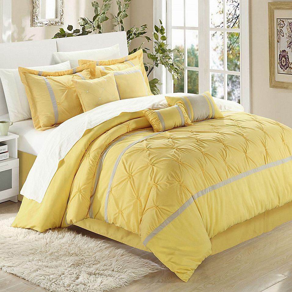 Chic Home Kearney 12 Piece Queen Comforter Set In Grey Comforter
