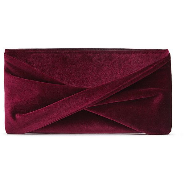 VELVET CLUTCH (60.250 HUF) ❤ liked on Polyvore featuring bags, handbags, clutches, velvet purse, velvet handbag, purple purse, velvet clutches and purple handbags