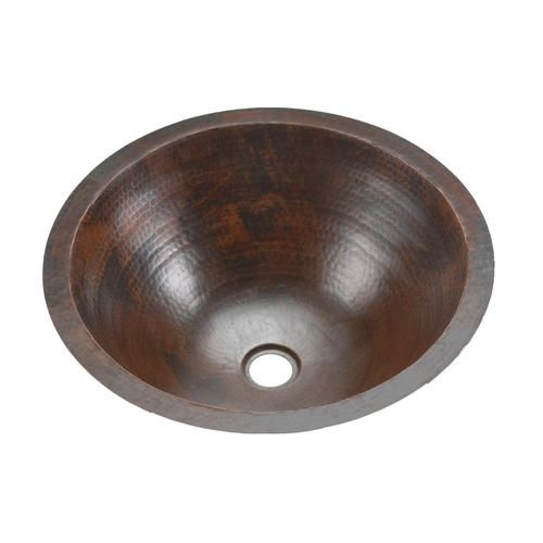 Premier Copper Products Round Under Counter Hammered Copper Sink At Menards
