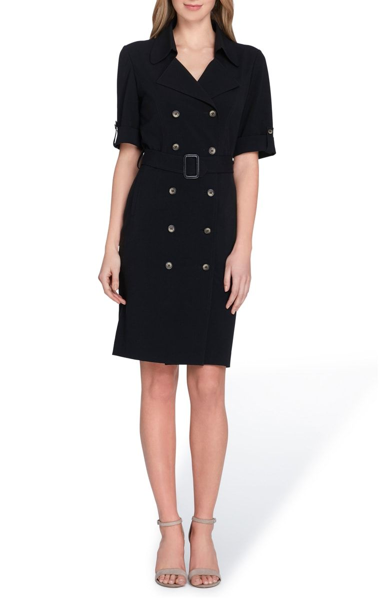 4d3652ff Free shipping and returns on Tahari Collared Sheath Dress (Regular &  Petite) at Nordstrom.com. Polished buttons march in rows down the front of  this ...
