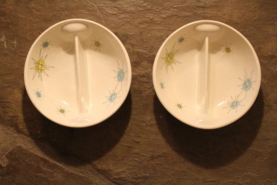 Atomic Starburst Divided Bowls Mid Century by 820greenstreet