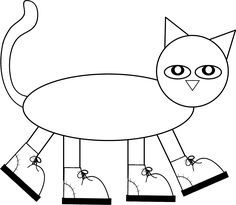 "Pete the Cat Pattern to color, cut, and assemble! Children love Pete's I Love My White Shoes book and had a blast making their own ""Pete"" after reading the fun story!"