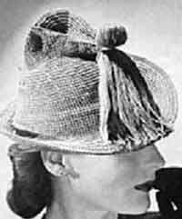 Brimmed       Hat 1942_Crochet