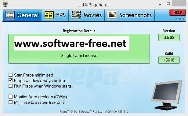 fraps windows 8 free download