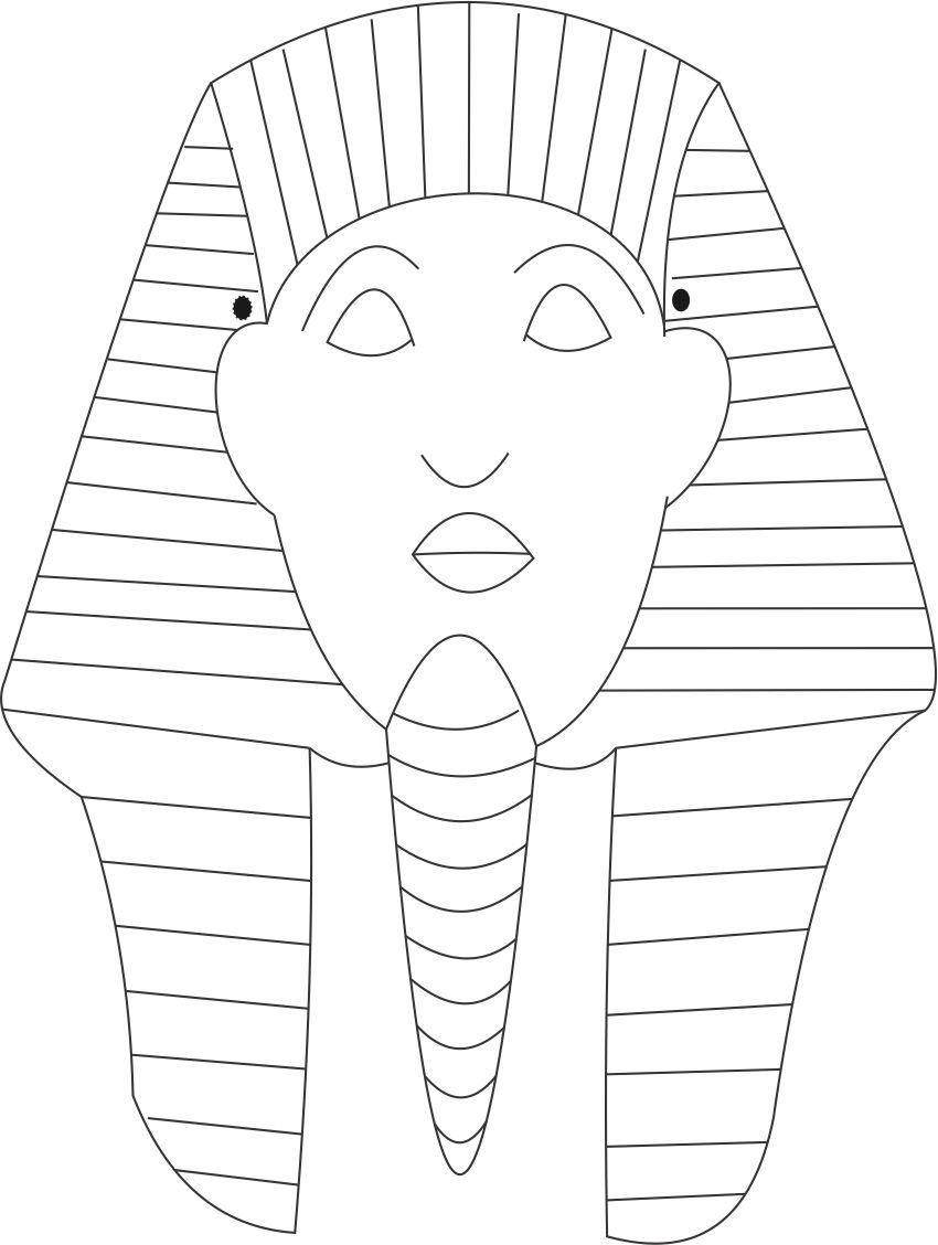 Sphinks Mask Printable Coloring Page For Kids Egitto Storia