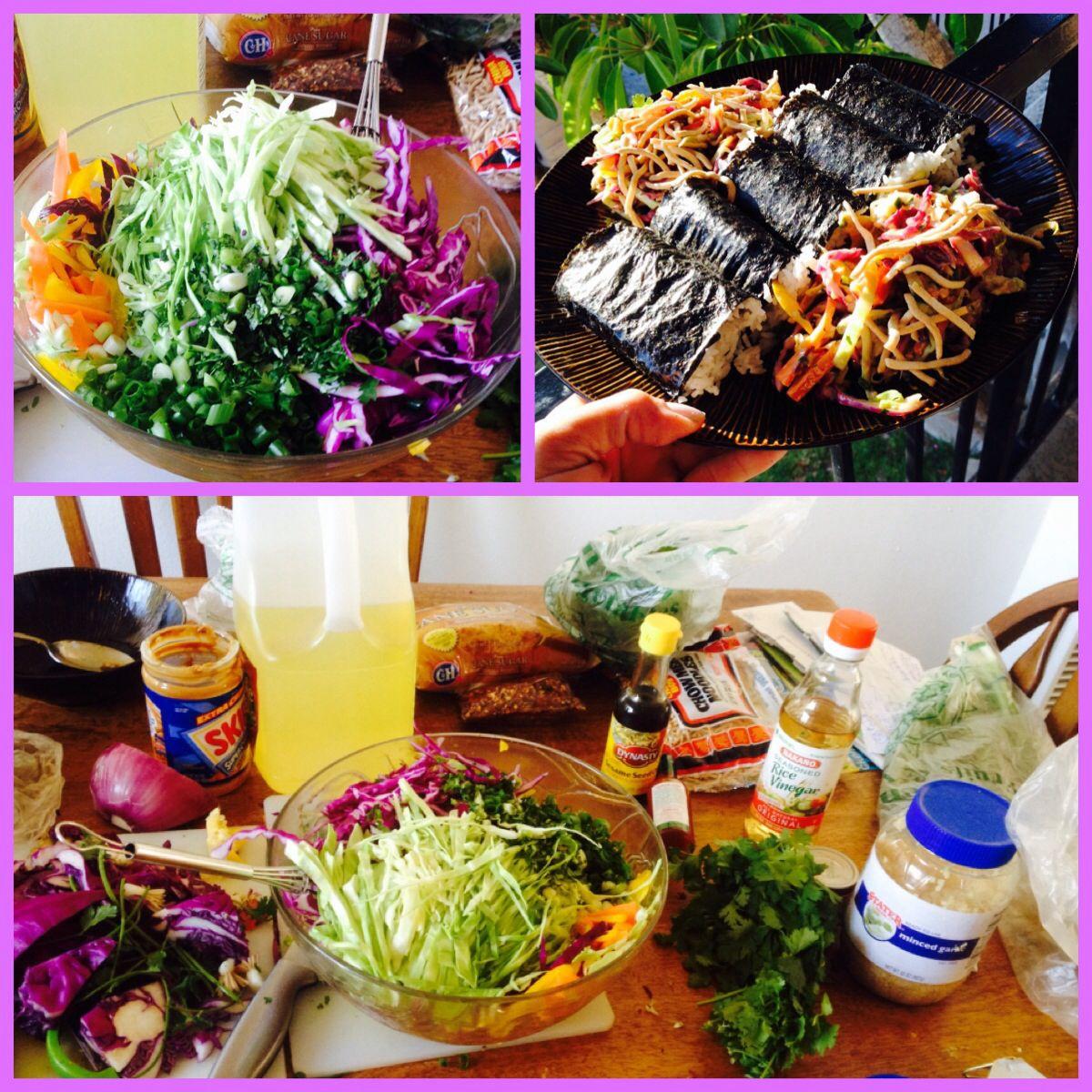 Spam Musubi + Peanut Thai Salad