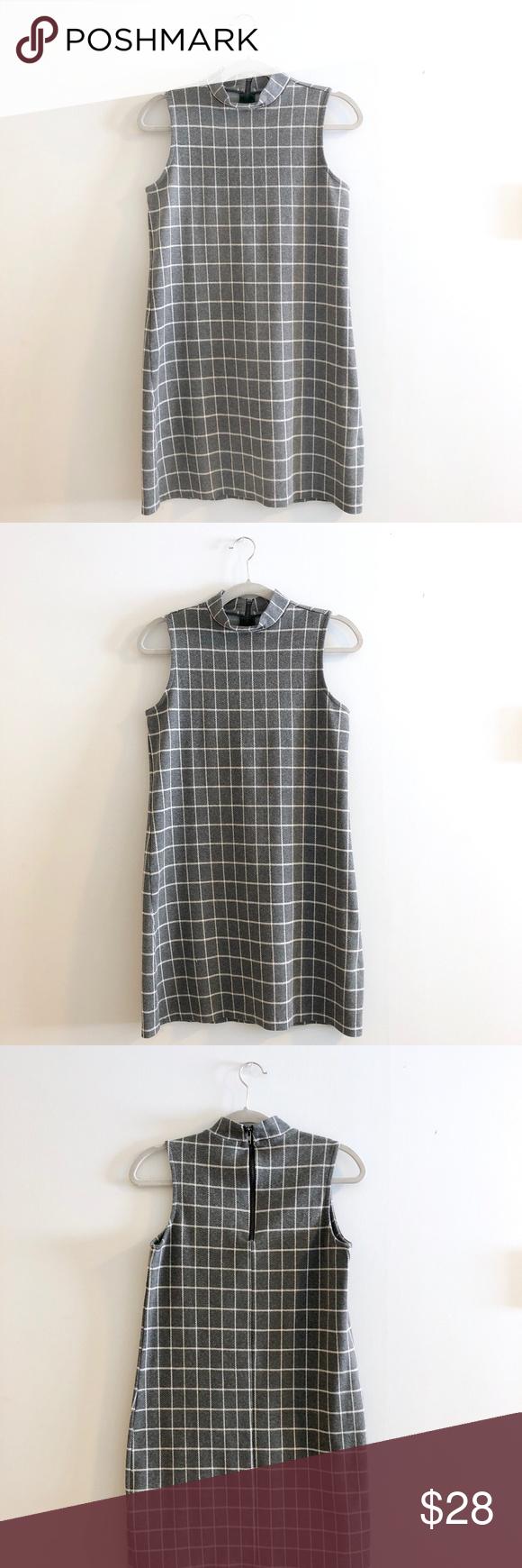 Paraphrase Gray Shift Dres Feature Mock Neck And Zipper Closure At Back Of Ma Grey Clothe Design Dress