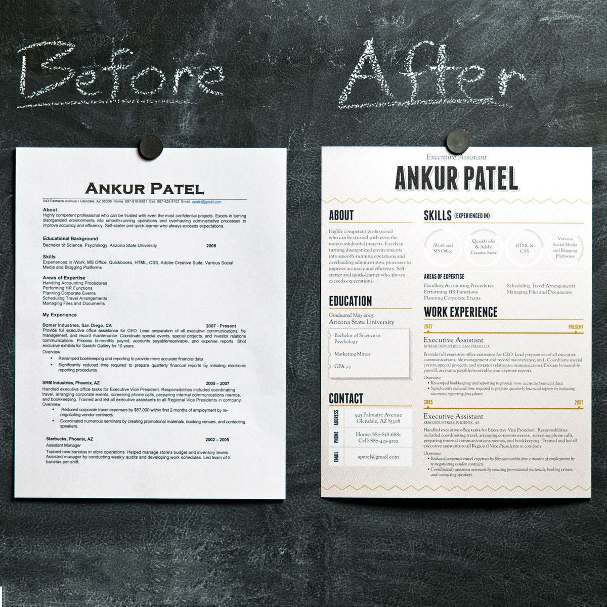 Make A Quick Resume Amusing 1 Page Resume Designloft Resumes  Creative Résumé And Card .