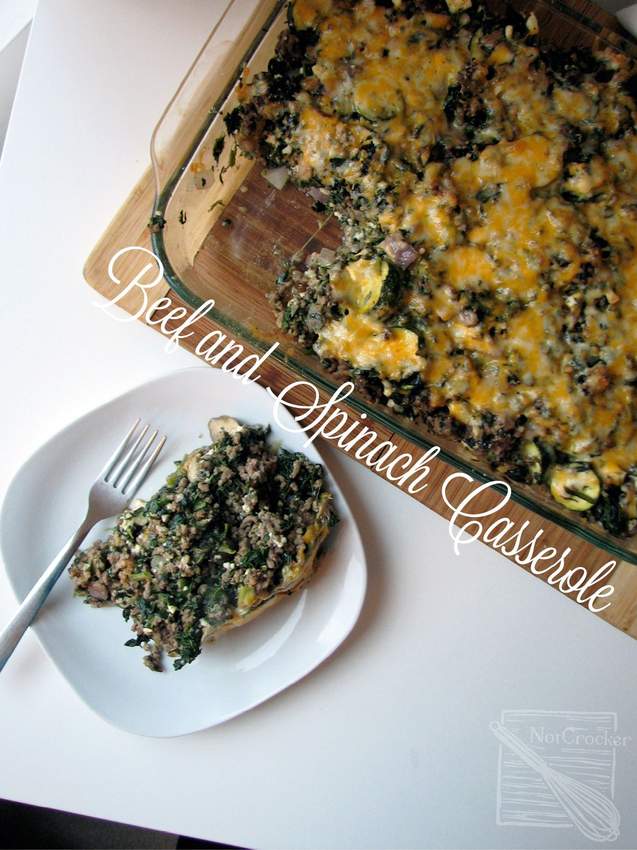Spanakopita-like Beef and Spinach Casserole. Low carb ...