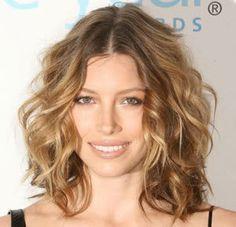Beach Wave Perm Medium Length Hair Hairstyles Hair Curly Hair
