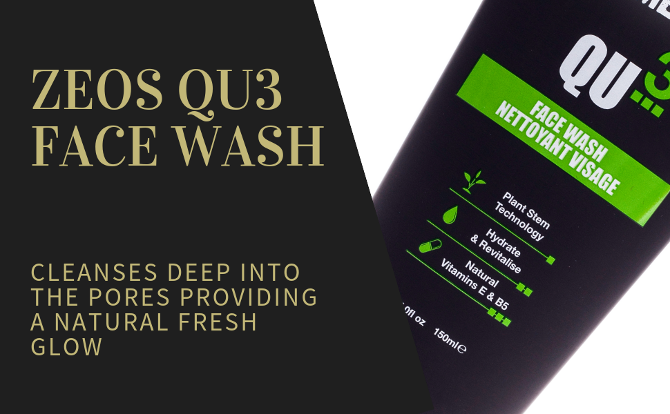 ZEOS Face Wash For Men #facecare The ZEOS QU3 Face Wash for a daily deep clean   #veganskincare #facewash #grooming #menstyle #beauty #plantbased #vegan #skin #facecare #zeos #ecofriendly #style #daily #gents #gentleman #groomingroutine #skincaretips #plantbased #ecobeauty #face #glow #pores #dairlyessentials #dailyskincare #facecare